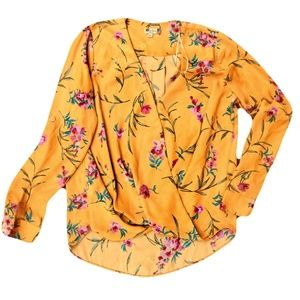 KUT from the Kloth Floral Wrap Blouse XS